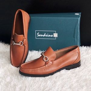 ✨New SANDRO MOSCOLONI Cordoba Mens Leather Loafers